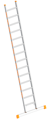 Layher TOPIC Single step ladder Art nr: 1042-xxx