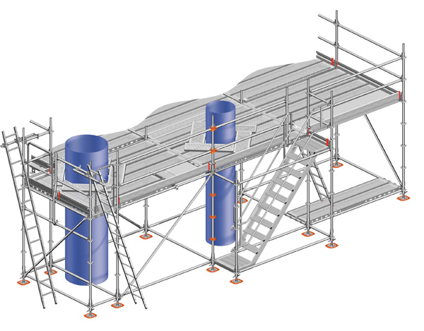 Layher Allround industry scaffolding