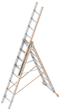 Layher TOPIC All-purpose ladder 3-part Art nr: 1040-xxx