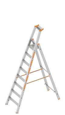 Layher TOPIC Double step ladder with access on one side Art nr: 1064-xxx