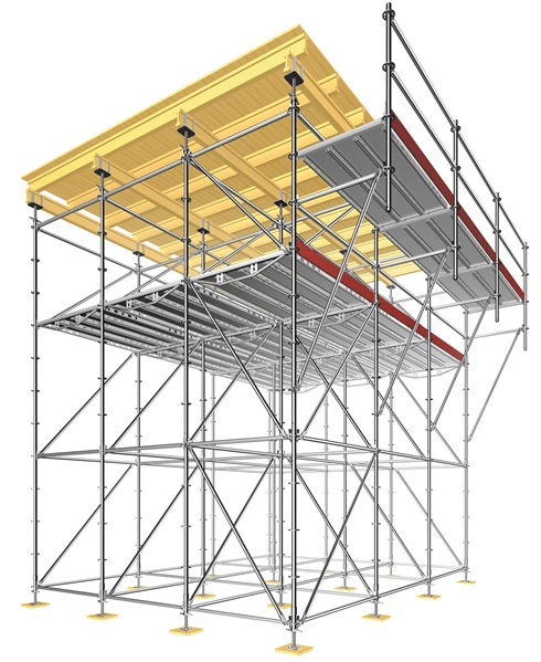 Layher Traditional scaffold shoring